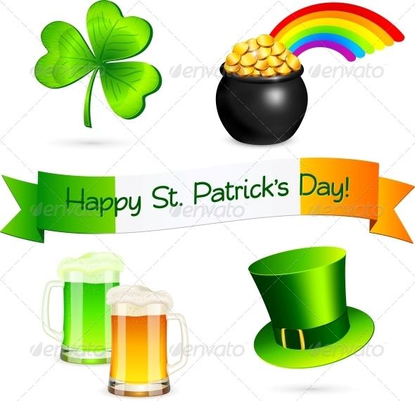 Saint Patrick's Day Design Elements Set