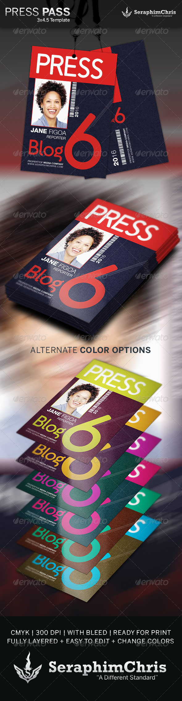 press badge template.html
