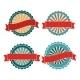 Blank Retro Vector Vintage Badges - GraphicRiver Item for Sale