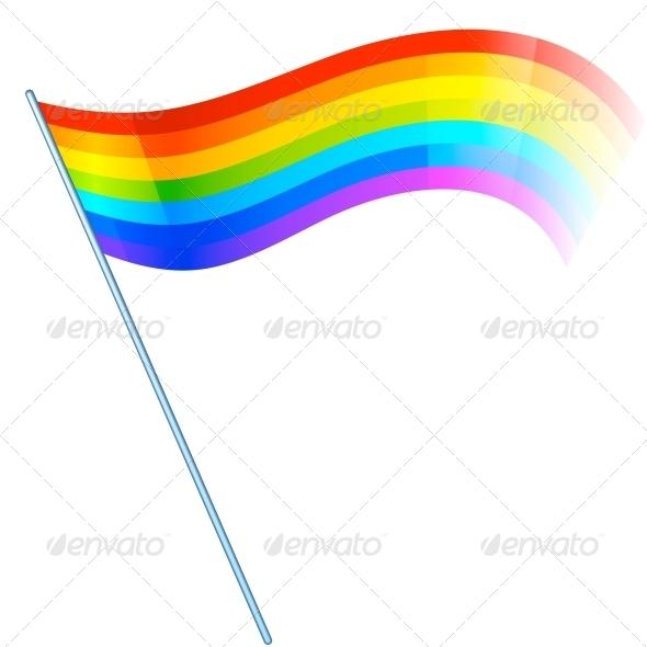 Abstract Vector Rainbow Flag