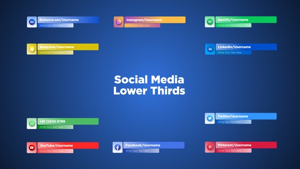 10 Elegant Social Media Lower Thirds