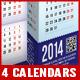 2014 - 4 Prism Type Desktop Calendars (A4)  - GraphicRiver Item for Sale