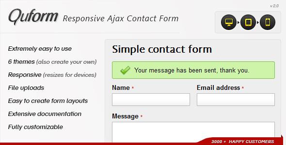 Quform - elastyczny formularz kontaktowy Ajax
