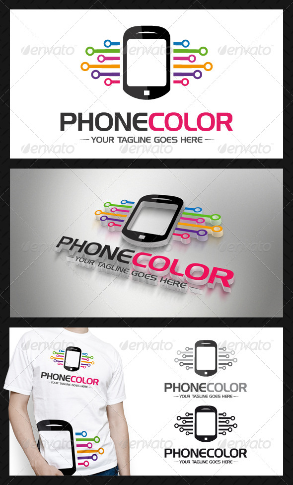 Phone Connection Logo Template