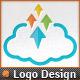 Pixel Arrows Storage Up Cloud Logo Template - GraphicRiver Item for Sale