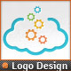 Internet Applications Pixel Gear Cloud Logo  - GraphicRiver Item for Sale