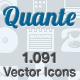 Quante - Monochromatic Vector Icons - GraphicRiver Item for Sale