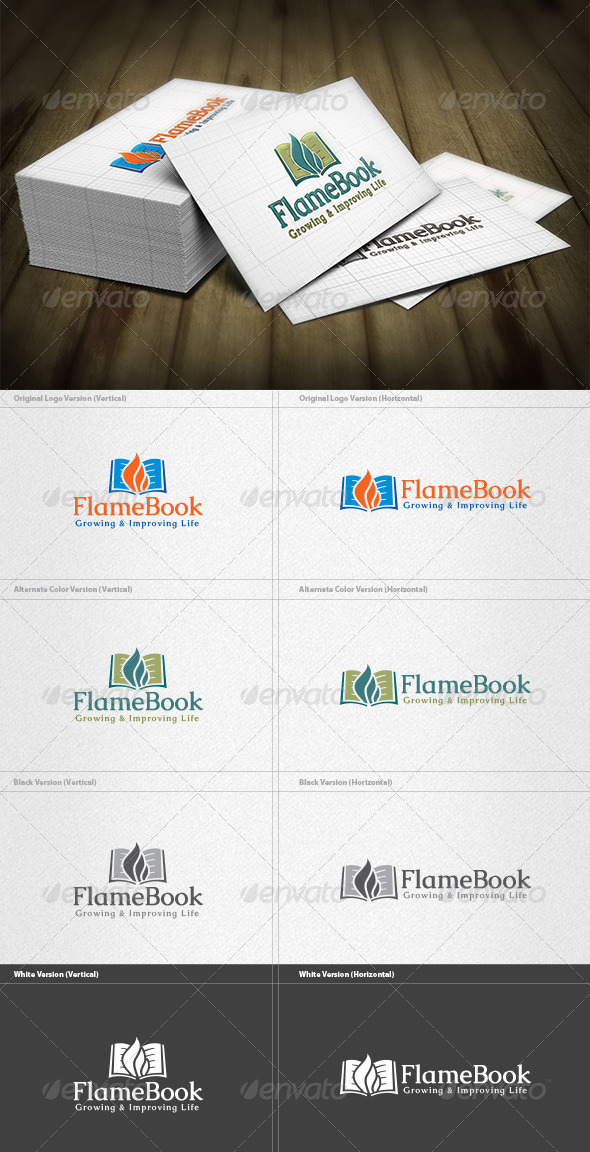 Flame Book Logo