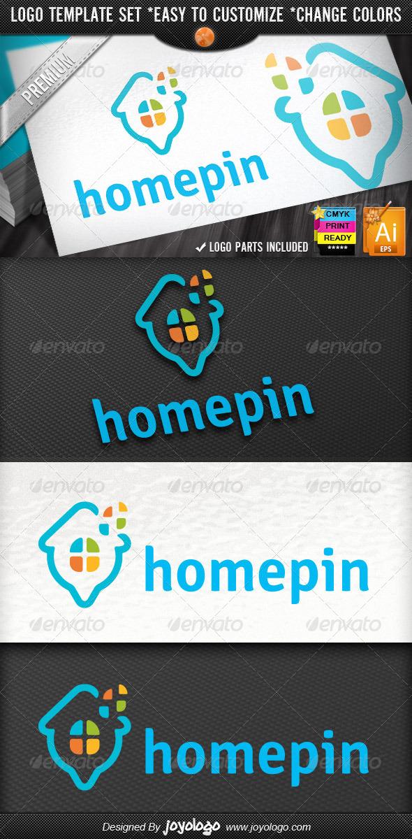 Pixel Windows Map Pointer Home Locator Logo