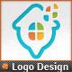 Pixel Windows Map Pointer Home Locator Logo - GraphicRiver Item for Sale