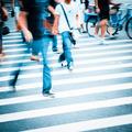 people walking on big city street - PhotoDune Item for Sale