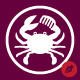 Barber Crab Logo Template - GraphicRiver Item for Sale