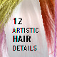 12 Artistic Hair Details - GraphicRiver Item for Sale