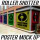 Security Roller Shutter & Poster Mockup - GraphicRiver Item for Sale