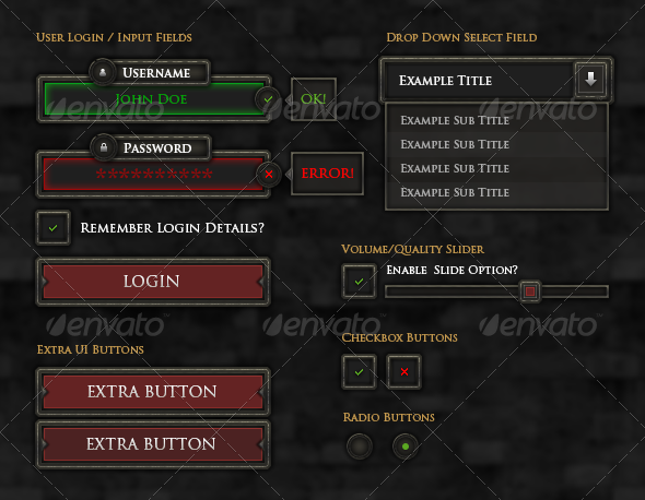 Rpg Game User UI Templates from GraphicRiver