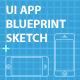 iPhone 5 UI Blueprint Sketch - GraphicRiver Item for Sale