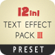 Text FX Pack III - VideoHive Item for Sale