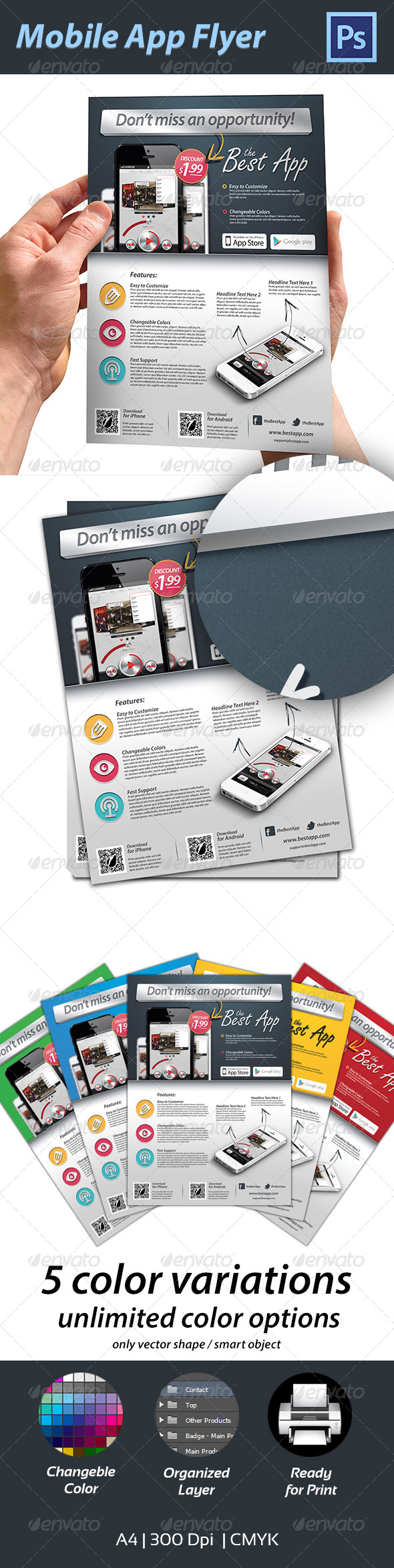 App Flyer Graphics, Designs & Templates from GraphicRiver