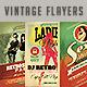 Vintage & Retro Flyers Bundle - GraphicRiver Item for Sale