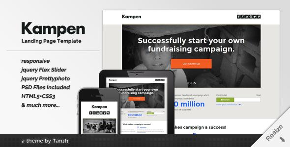 Kampen Responsive HTML Landing Page Template