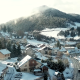 Aerial View Over French Snowy Mountain Town - VideoHive Item for Sale