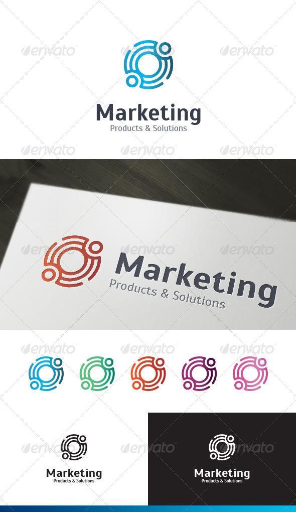Marketing Service Logo Template