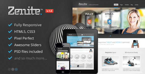Zenite - Responsive HTML5 Template