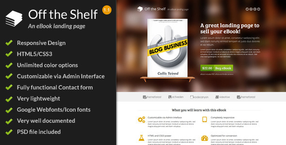 Review: Off the Shelf - Responsive E-Book Landing Page free download Review: Off the Shelf - Responsive E-Book Landing Page nulled Review: Off the Shelf - Responsive E-Book Landing Page