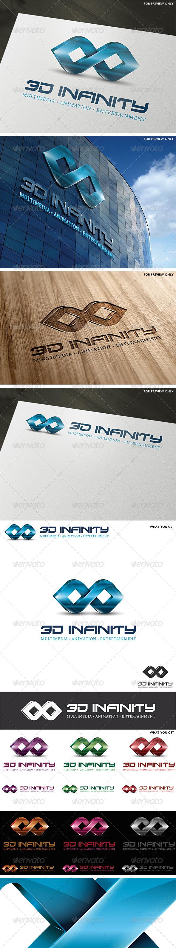3D Infinity Vector Logo Template