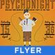 PsychoNight - Vintage/Retro Poster  - GraphicRiver Item for Sale