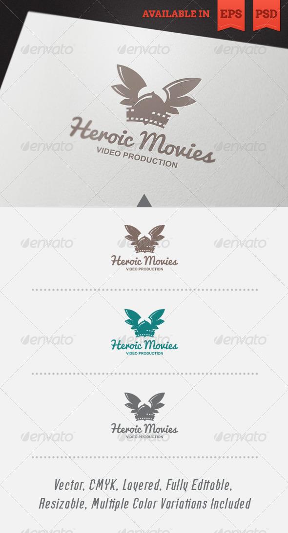 Heroic Movies Logo Template
