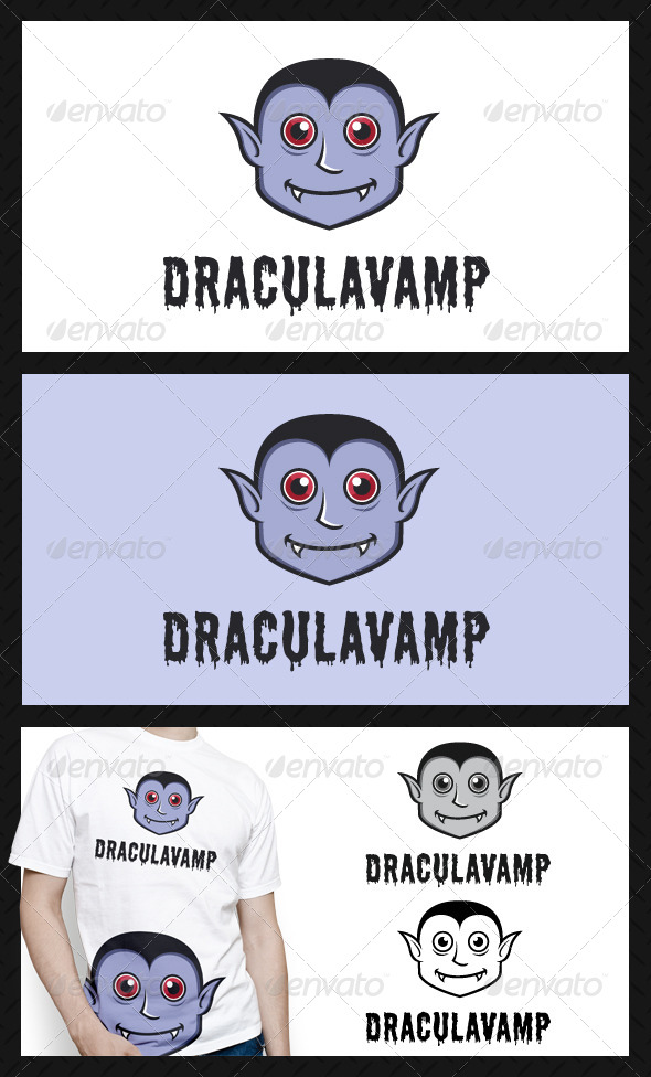 Dracula Vampire Logo Template