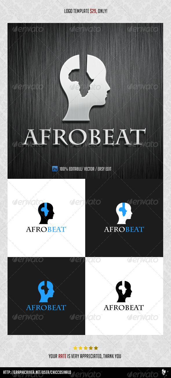 Afro Beat Logo Template
