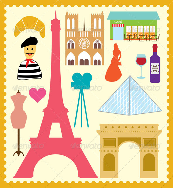 Paris France Graphics Designs Templates From Graphicriver