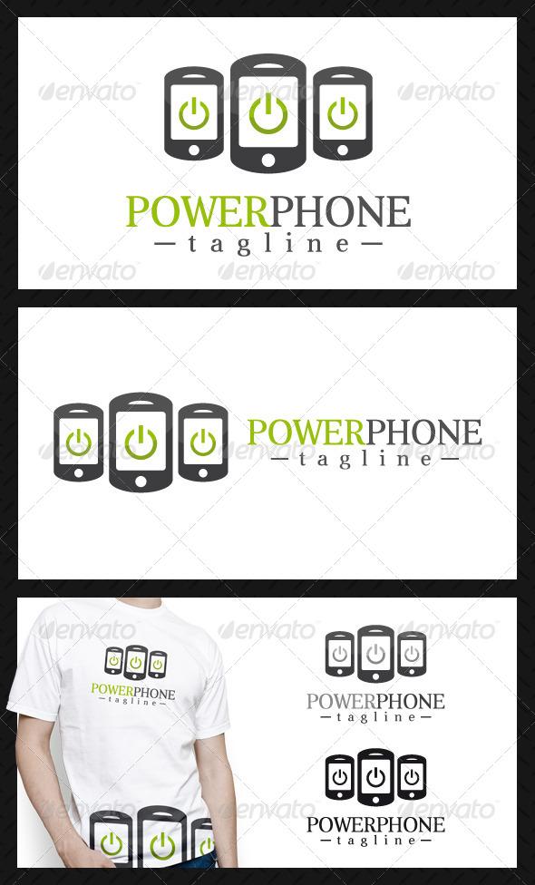 Power Phone Logo Template