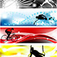 Set of Sports Banner in Five Colors - GraphicRiver Item for Sale