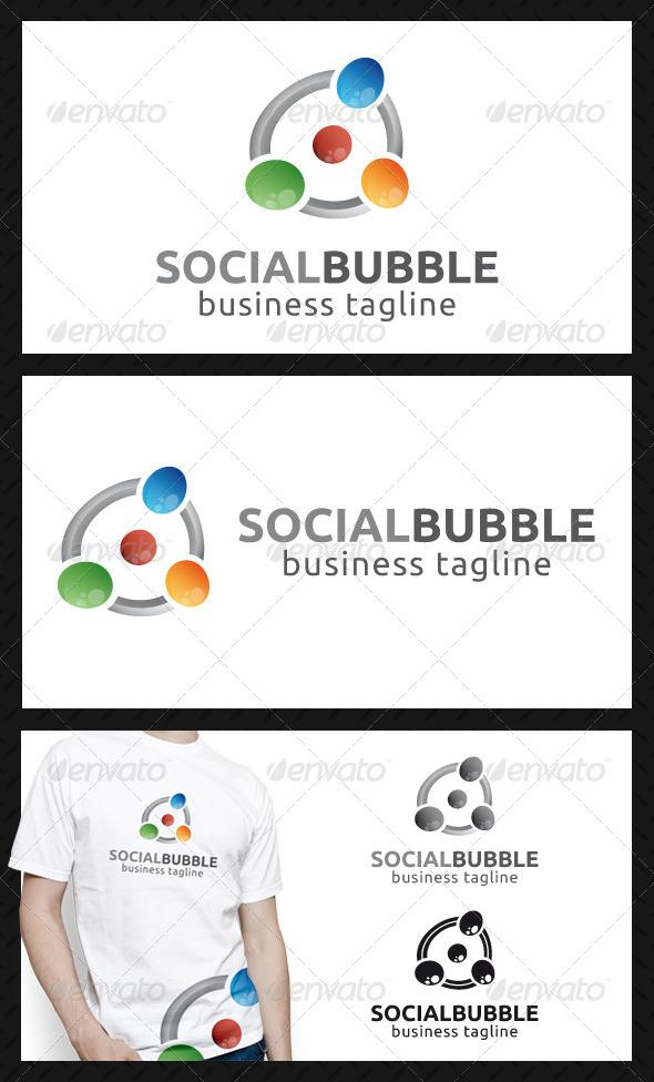 Social Bubbles Logo Template