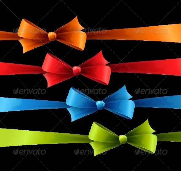 Set of Colored Bow