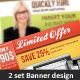 2 Banner Sets - GraphicRiver Item for Sale