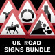 UK Road Signs: Warnings Bundle - GraphicRiver Item for Sale