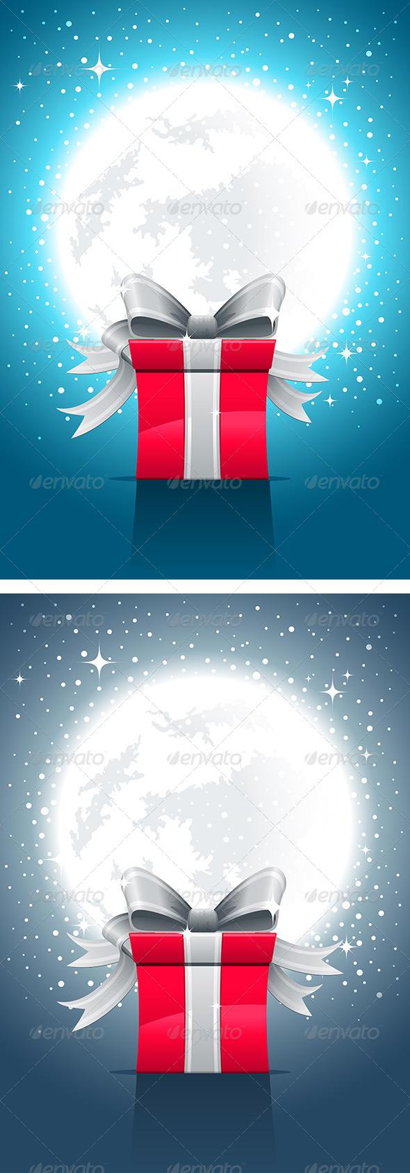 Fullmoon, Night And Gift Box