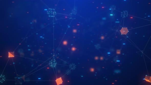 High Tech Data Space Background 4K