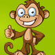 Two Cheeky Monkey Characters - GraphicRiver Item for Sale