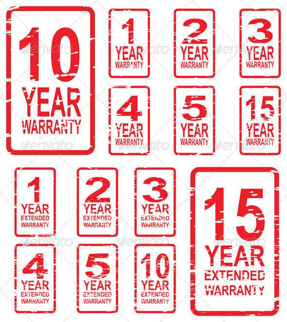 Extended Warranty Rubber Stamps