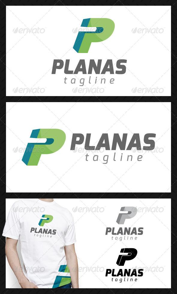 Planas Letter P Logo Template