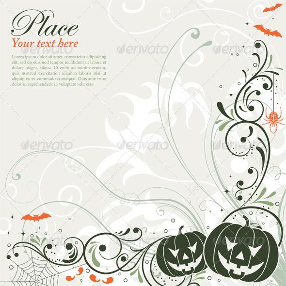 Floral Halloween background