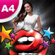 A4 All Night Party Club Flyer - GraphicRiver Item for Sale