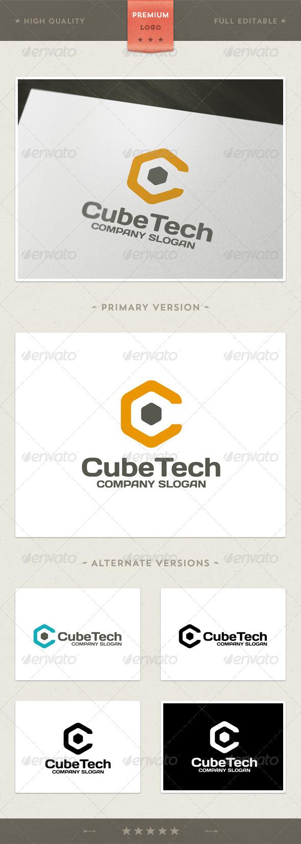 Cube Tech Logo Template