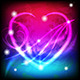 Glowing Heart with Black and Colorful Background - GraphicRiver Item for Sale