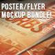 Poster & Flyer Perspective Mockup Bundle - GraphicRiver Item for Sale